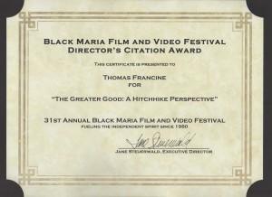 black maria award